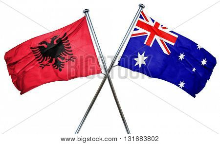 Albania flag  combined with australian flag