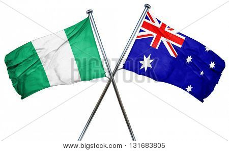 Nigeria flag  combined with australian flag