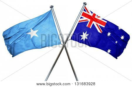 Somalia flag  combined with australian flag