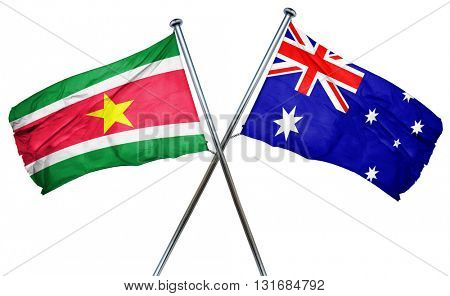 Suriname flag  combined with australian flag