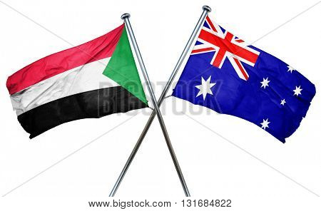 Sudan flag  combined with australian flag
