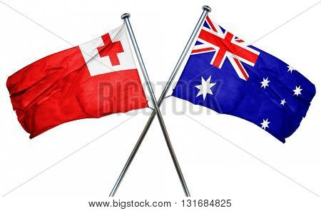 Tonga flag  combined with australian flag