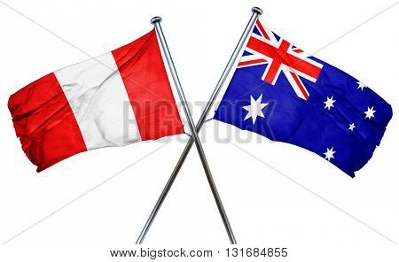 Peru flag  combined with australian flag