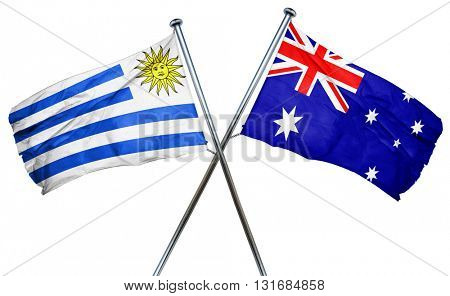 Uruguay flag  combined with australian flag