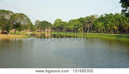 Pond In Sukhothai Historical Park