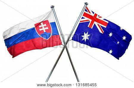 Slovakia flag  combined with australian flag
