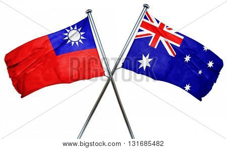 Republic of china flag  combined with australian flag