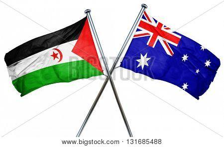 Western sahara flag  combined with australian flag