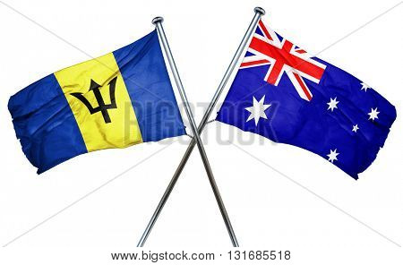 Barbados flag  combined with australian flag