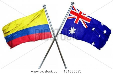 Colombia flag  combined with australian flag