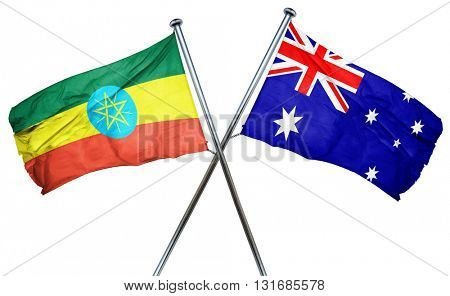 Ethiopia flag  combined with australian flag