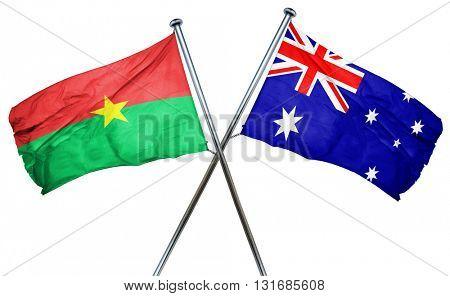 Burkina Faso flag  combined with australian flag