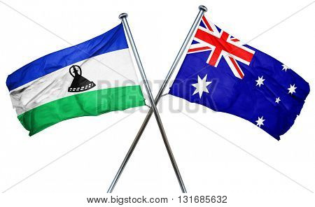 Lesotho flag  combined with australian flag