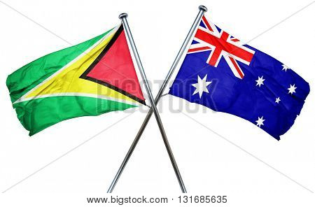 Guyana flag  combined with australian flag