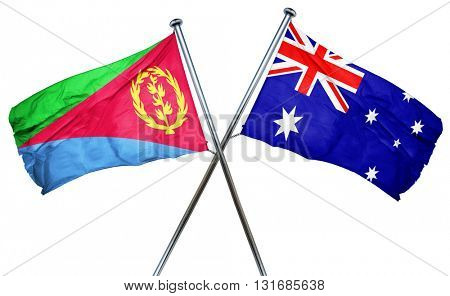 Eritrea flag  combined with australian flag