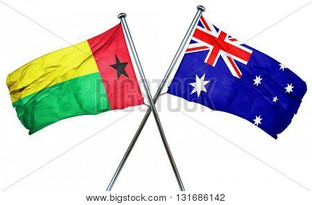 Guinea bissau flag  combined with australian flag