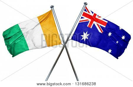 Ivory coast flag  combined with australian flag