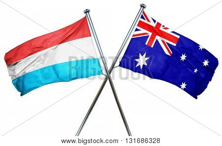 Luxembourg flag  combined with australian flag