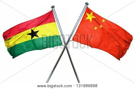Ghana flag  combined with china flag