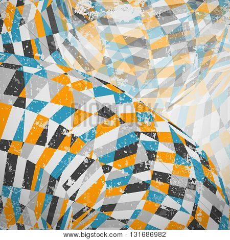 Vector abstract background. Retro style with grunge effect.The illustration contains transparency and effects. EPS10