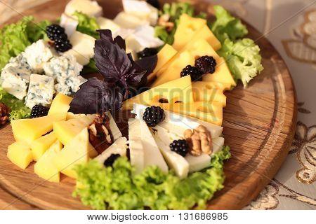 Tasty Delicatessen Cheese Plate