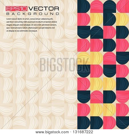 Abstract geometric background with place for text. The illustration contains transparency and effects. EPS10