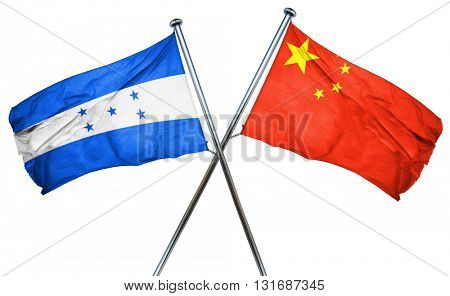 Honduras flag  combined with china flag