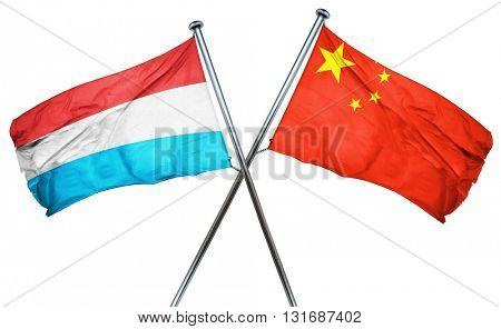 Luxembourg flag  combined with china flag