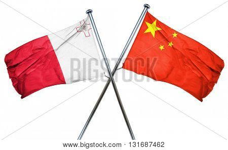 Malta flag  combined with china flag