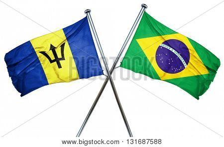 Barbados flag  combined with brazil flag