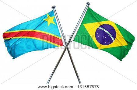 Democratic republic of the congo flag  combined with brazil flag
