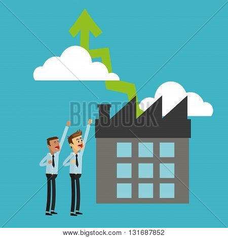 Businessman concept with icon design, vector illustration 10 eps graphic.