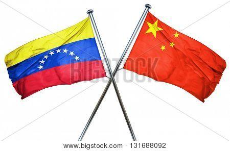 Venezuela flag  combined with china flag
