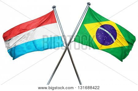 Luxembourg flag  combined with brazil flag