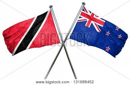 Trinidad and tobago flag  combined with new zealand flag