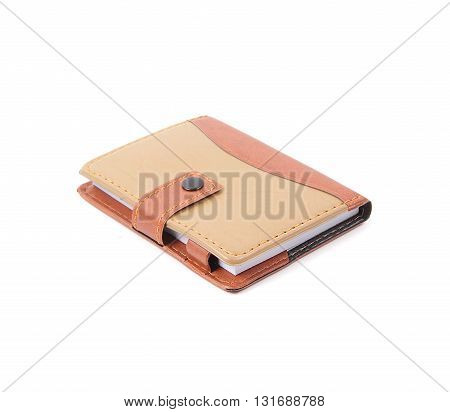 The Portable notebook cover on white background