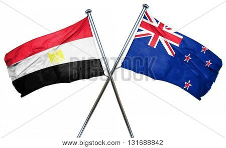 Egypt flag  combined with new zealand flag