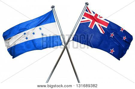 Honduras flag  combined with new zealand flag