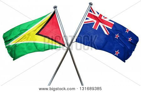 Guyana flag  combined with new zealand flag