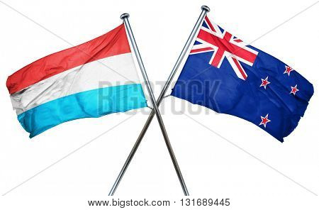 Luxembourg flag  combined with new zealand flag