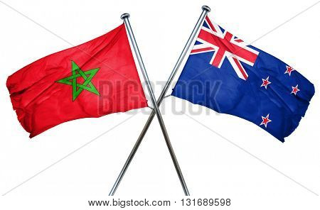 Morocco flag  combined with new zealand flag