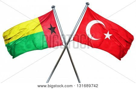 Guinea bissau flag  combined with turkey flag