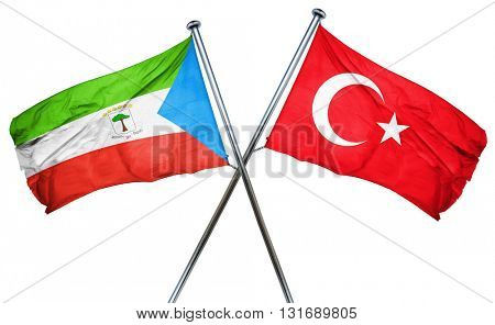 Equatorial guinea flag  combined with turkey flag
