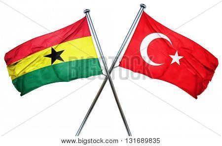 Ghana flag  combined with turkey flag
