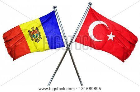 Moldova flag  combined with turkey flag