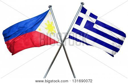 Philippines flag  combined with greek flag