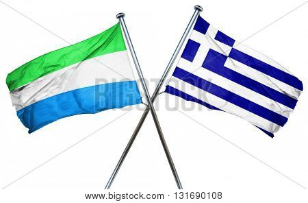 Sierra Leone flag  combined with greek flag