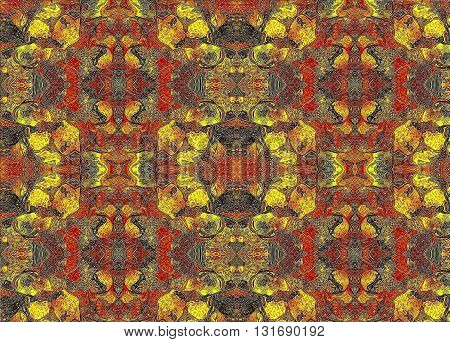 Crocodile skin. Oriental patterns In the picture with oriental patterns in abstract form shows a crocodile skin.