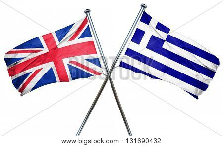 Great britain flag  combined with greek flag