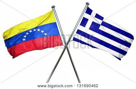 Venezuela flag  combined with greek flag